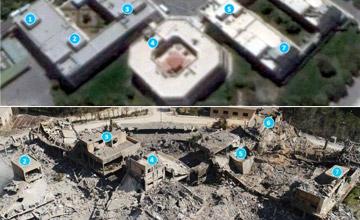 直击空袭叙利亚现场:遭打击目标前后对比震撼