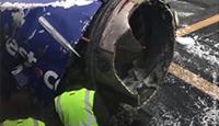 现场:美国客机爆炸致1死7伤 有乘客被吸出窗外