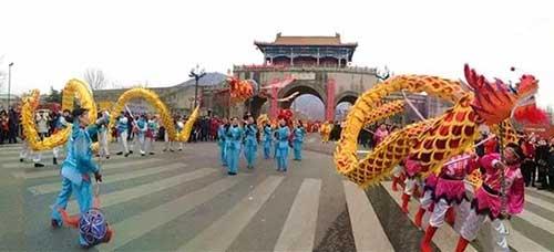 海州城朐阳门民俗踩街表演