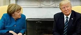 默克尔上门拜访 竟被特朗普如此对待!