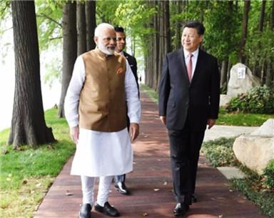 看!习主席与莫迪总理散步的地方