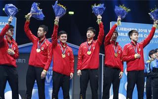中国男队世乒赛横扫德国队,实现九连冠