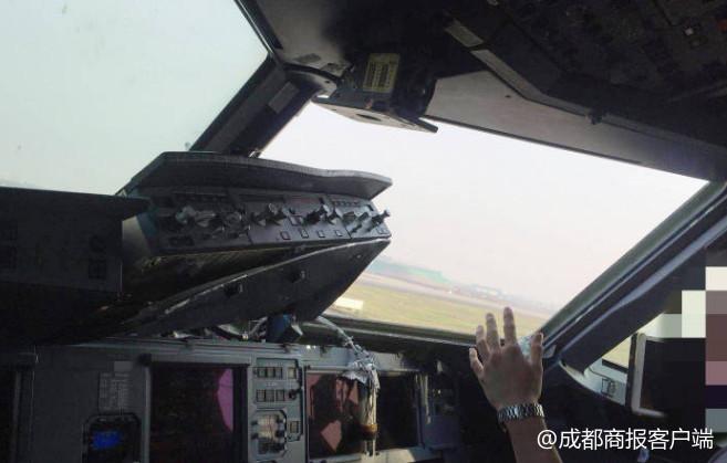 玻璃/原标题:成都商报独家专访川航备降机长!副驾身体飞出一半设备...