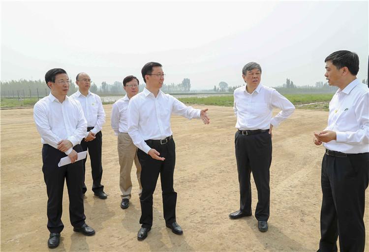 韩正在河北雄安新区调研