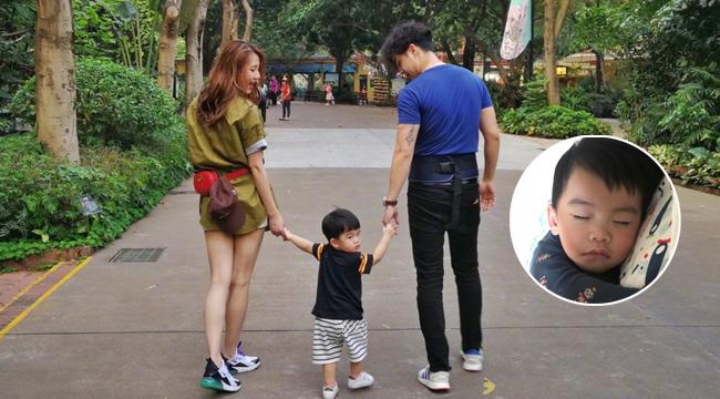 李茂晒照称想念老婆儿子 宝宝的长睫毛超抢镜!