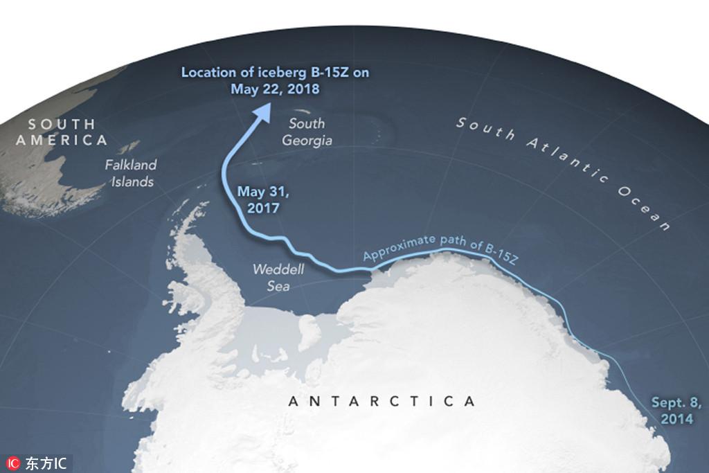 这个有史以来最大的冰山正消失