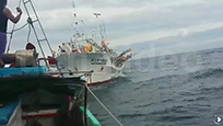 台媒曝一台湾渔船在钓鱼岛海域被日本渔船撞击 日船肇逃