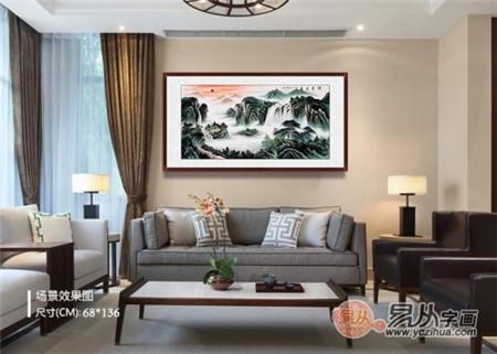 客厅沙发背景墙挂画攻略,墙壁挂画技巧大揭秘