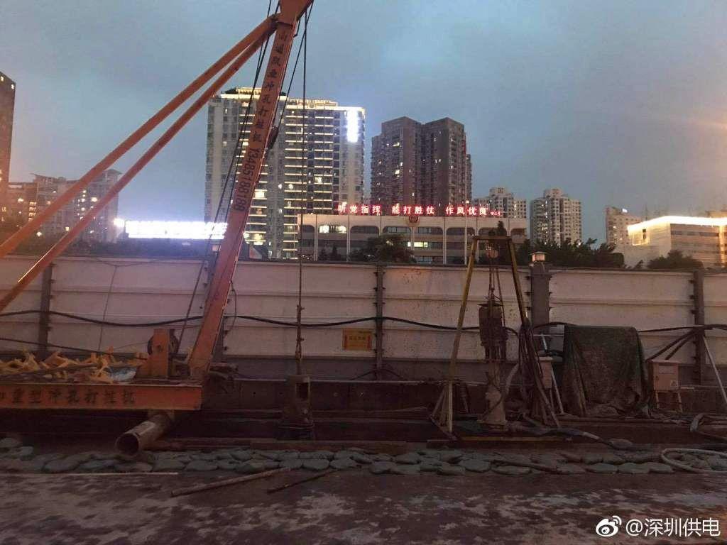 深圳地铁施工,3天挖断7根电缆