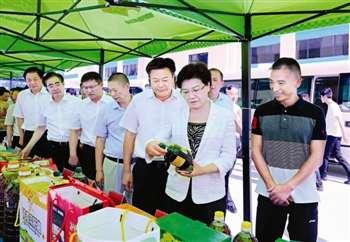 韩立明带领团队在兴化观察姜岩。