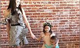 奥莉小公主上线!李安琪晒合照奥莉穿纱裙搂弟弟超仙