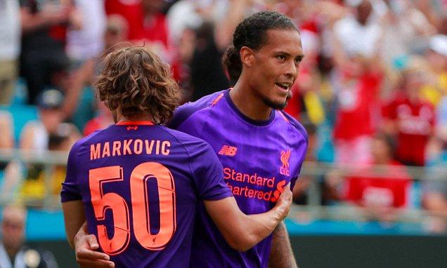 国际冠军杯-利物浦1-3多特 范迪克头槌普利西奇双响