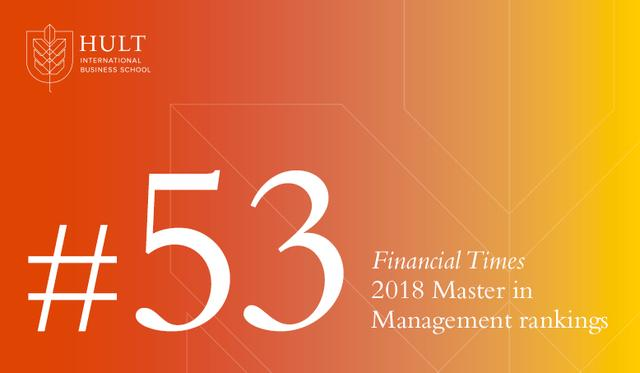 霍特国际商务硕士项目获2018年《金融时报》新上榜高校最前位