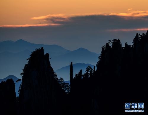安徽黄山风景区秋景