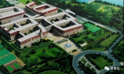 凤观青岛  青岛中学鸟瞰图 青岛中学与北京十一学校合作进行混合制办