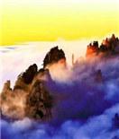安徽黄山云霞景观频现 灿若锦绣