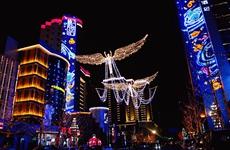西安高新嘉会坊国际艺术灯光节开幕