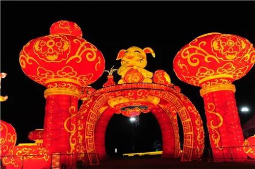 郑州绿博园赏花灯活动一直持续到3月3日