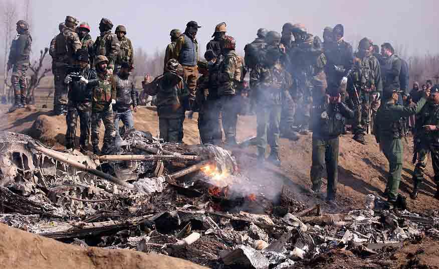 印度战斗机坠毁现场