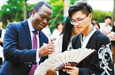 联合国人口基金驻华代表和西安大学生面对面交流