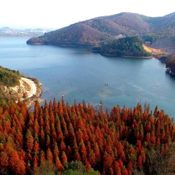 安徽廬江:冬日畫境虎洞湖
