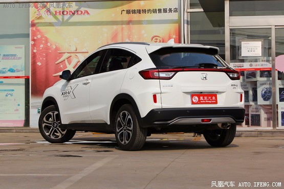 本田XRV的长相与东风本田的其它车型似乎有几分神似,线条与棱角高清图片