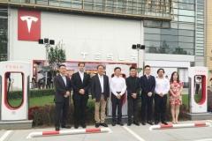 特斯拉在中国第100座超级充电站落成