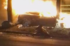特斯拉再起车祸着火 两人不幸身亡