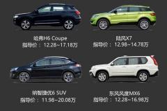 跨界SUV便宜了!看四款自主跨界SUV推荐