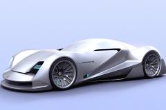 保时捷自动驾驶技术概念车官图 全新风格