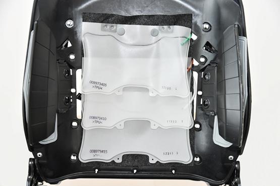 6向调节气动腰托系统 背部中间区域采用全新三气袋形式图片