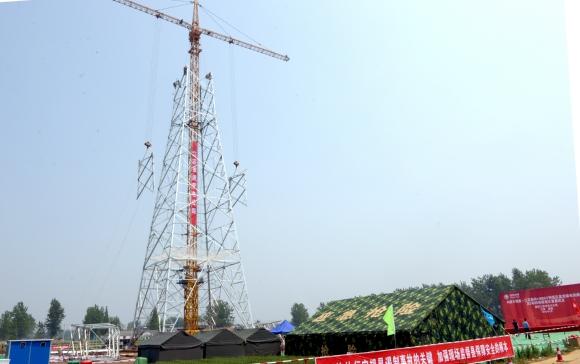 锡泰特高压输电工程进入线路立塔阶段