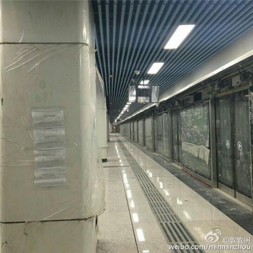 地铁1号线徽州大道站装修进展曝光