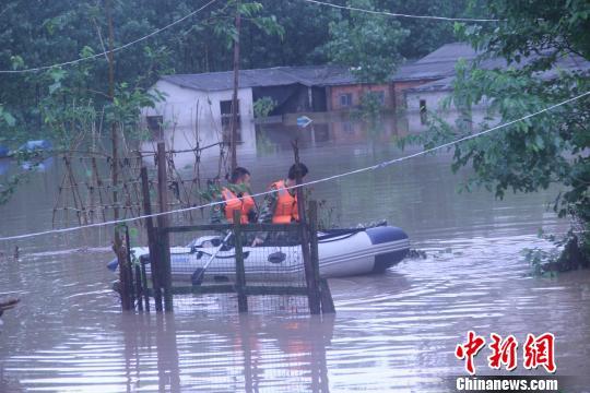 武汉新洲遭遇强降雨 10余亩养殖场美容宣传页被淹
