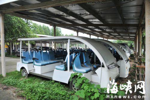 福州市动物园 10部游览车闲置在停车场三年