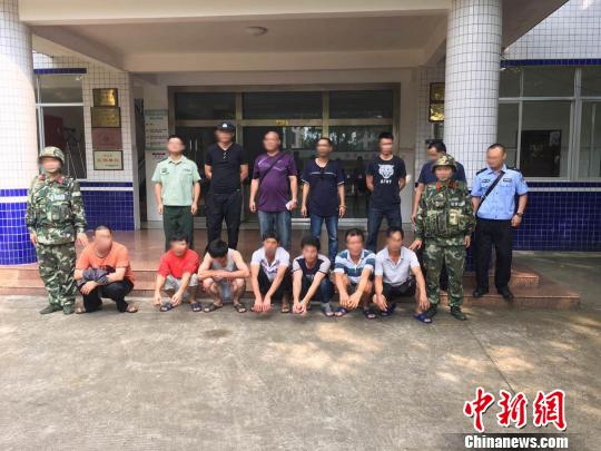 图为7名涉案嫌疑人陈小宁摄
