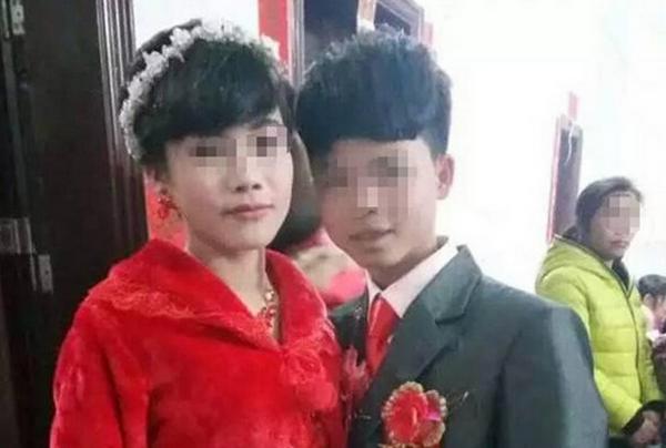 广东16岁男生迎娶14岁女生 婚礼照片曝光图片