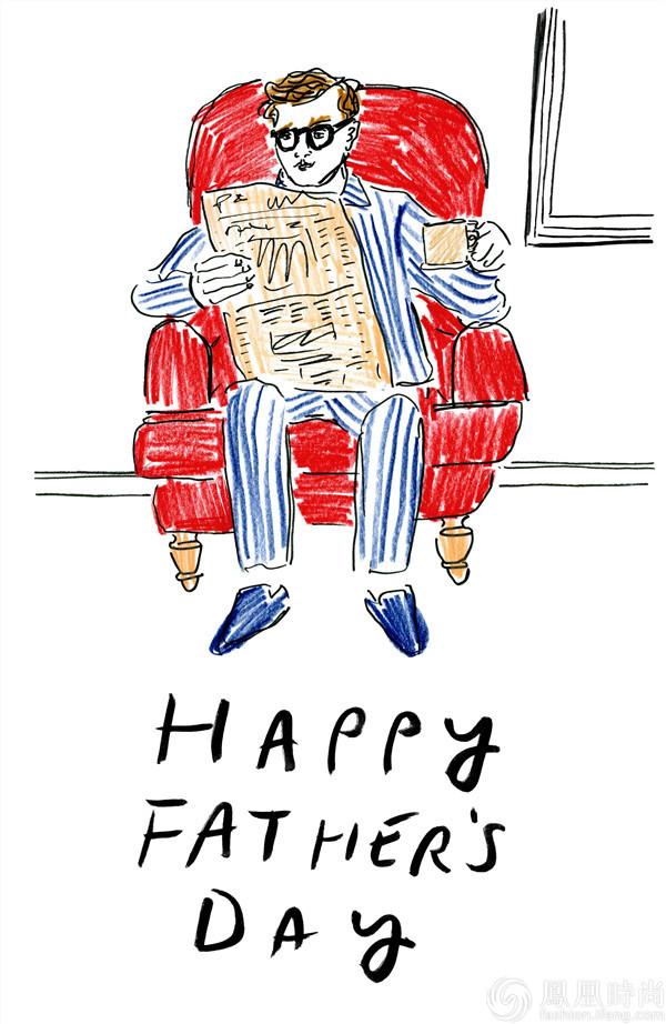 父亲与孩子矢量图