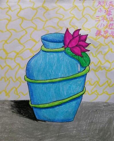 塑料油桶花瓶制作图片
