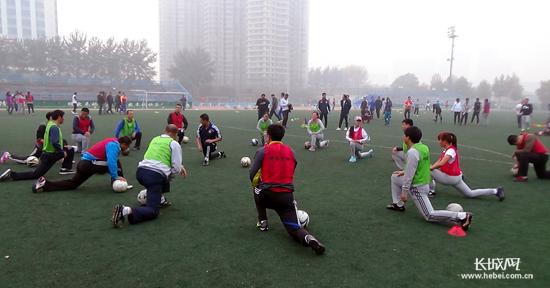 训;与中国足球学校秦皇岛