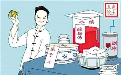 老北京的夏天漫画y民图片