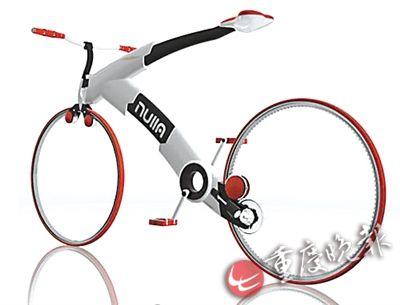 无链条概念自行车