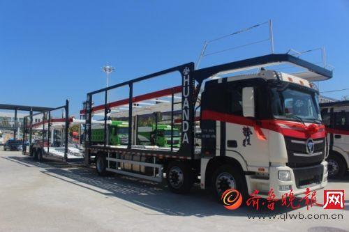 欧曼中置轴轿运车整车按照全新gb1589-2016开发完善