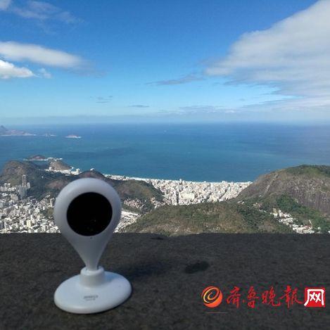 图1:360智能摄像机在里约基督山上