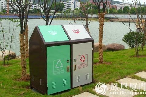 """别让""""华而不实""""的垃圾桶使演武大桥观景台的美丽蒙尘"""