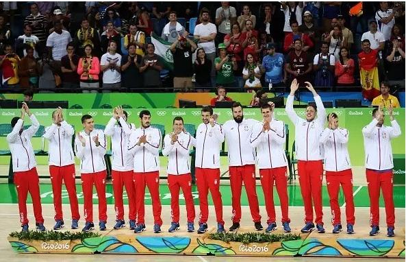 匹克之队塞尔维亚获里约奥运会男篮银牌!