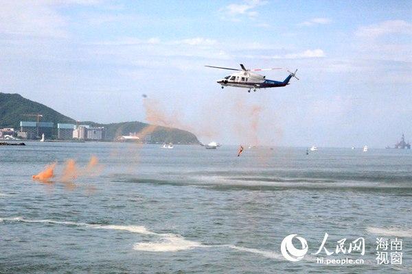 2016南部海区应急救援综合演练在三亚举行