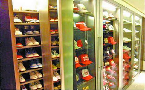 衣帽间 范冰冰鞋柜200平米