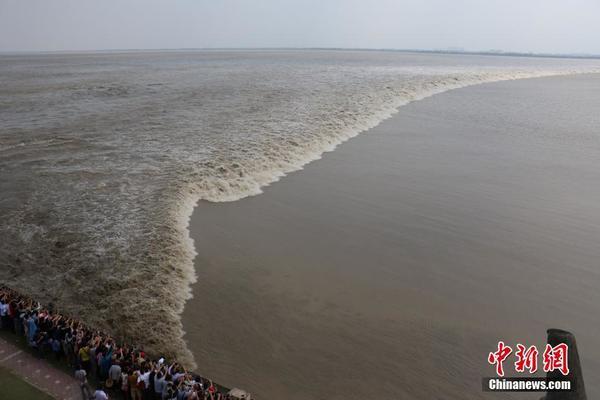 八月十八观大潮 钱塘江潮水汹涌壮观