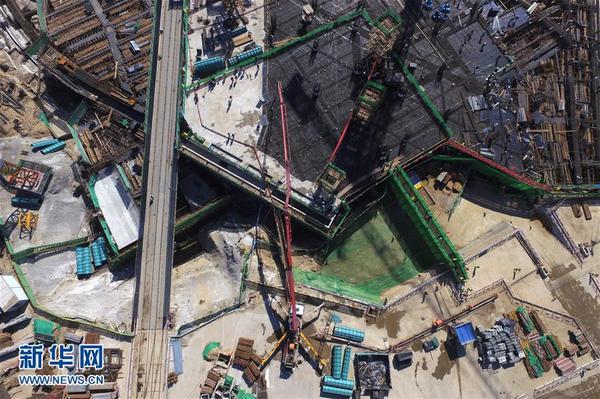 北京新机场主航站楼地下结构封顶